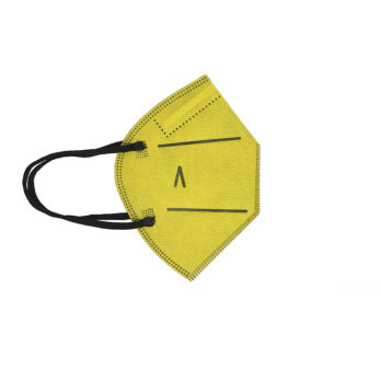 Pack 5 unidades Mascarilla 20 lavados amarilla para niños